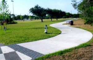 Community Park, hardscape walks